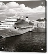 Naples Vintage Old Card Acrylic Print