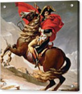 Napoleon Crossing The Alps Acrylic Print by Jacques Louis David