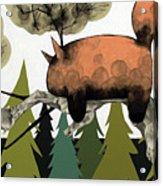 Napping Squirrel Acrylic Print