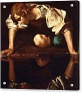 Narcissus Acrylic Print by Pg Reproductions