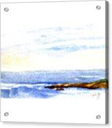 Narragansett Rocks Acrylic Print