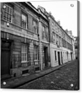 narrow cobbled old orchard street Bath England UK Acrylic Print