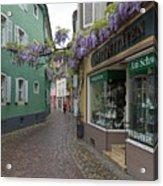 Narrow Street In Freiburg Acrylic Print