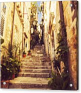 Narrow Street In Old Town Dubrovnik Acrylic Print