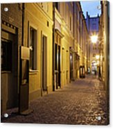 Narrow Street In Old Town Of Wroclaw In Poland Acrylic Print