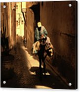 Narrow Streets Fes Male Donkey  Acrylic Print