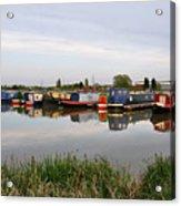 Narrowboats At Barton Marina Acrylic Print