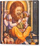 Narsimhavatar Water-color Painting,hindu Mythology,beautiful Artwork. Acrylic Print