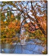 Nashua River Water Fountain - Nashua Nh Acrylic Print