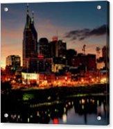 Nashville At Sunset Acrylic Print