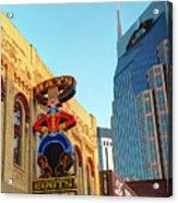 Nashville Boots Neon Sign Acrylic Print