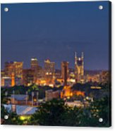 Nashville By Night 2 Acrylic Print by Douglas Barnett