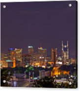 Nashville By Night 3 Acrylic Print by Douglas Barnett