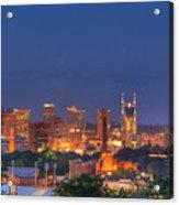 Nashville By Night Acrylic Print