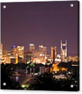 Nashville Cityscape 3 Acrylic Print by Douglas Barnett