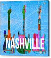 Nashville Guitars Acrylic Print