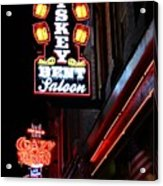 Nashville Neon Signs  Acrylic Print