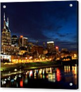 Nashville Skyline Acrylic Print by Mark Currier