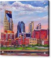 Nashville Skyline Painting Acrylic Print