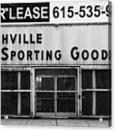 Nashville Sporting Goods Acrylic Print