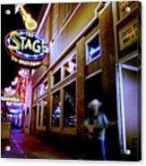 Nashville Street Musician Acrylic Print by Todd Fox