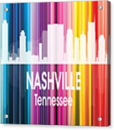 Nashville Tn 2 Vertical Acrylic Print