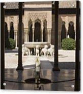 Nasrid Palaces Alhambra Granada Spain Europe Acrylic Print
