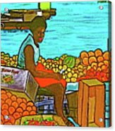 Nassau Fruit Seller At Waterside Acrylic Print