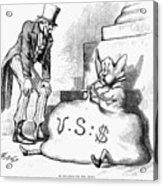 Nast: Inflation, 1873 Acrylic Print