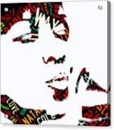 Natalie Cole Unforgettable Song Lyrics Acrylic Print