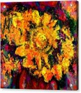 Natalie Holland Sunflowers Acrylic Print