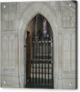 National Cathedral Grated Door Acrylic Print