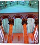 National Column Orange Acrylic Print