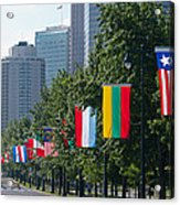 National Flags Of Various Countries Acrylic Print