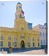 National History Museum On Plaza De Armas In Santiago-chile Acrylic Print