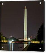 National Mall At Night Acrylic Print