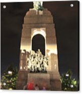 National War Memorial At Night Acrylic Print