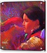 Native American - Boy Dancer Resting Acrylic Print