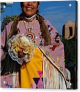 Native American Clothes Contest 1 Acrylic Print