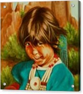 Native American Girl Acrylic Print