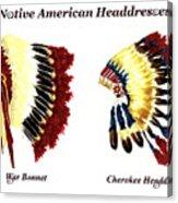 Native American Headdresses Acrylic Print