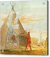 Native American Indian Sweat Lodge Acrylic Print by Science Source