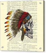 Native American Skull Acrylic Print