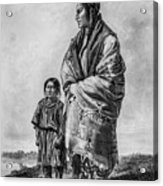 Native American Squaw And Child Acrylic Print