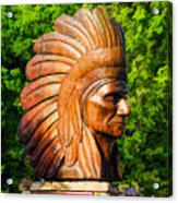 Native American Statue Acrylic Print