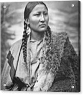 Native American Woman War Chief Pretty Nose Acrylic Print