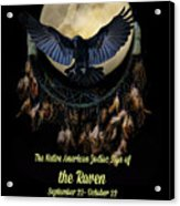 Native American Zodiac Sign Of The Raven Acrylic Print