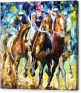 Native Raiser - Palette Knife Oil Painting On Canvas By Leonid Afremov Acrylic Print