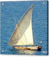 Native Sail Boat Acrylic Print
