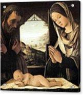 Nativity By Lorenzo Costa Acrylic Print